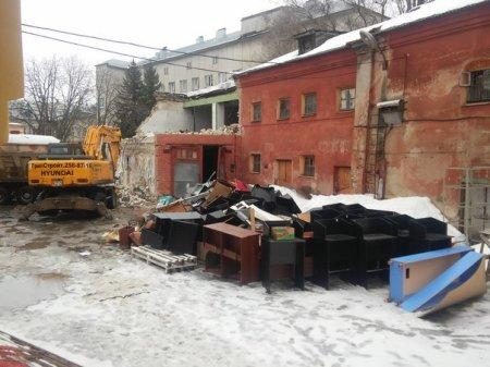 В центре Воронежа начался снос остатков исторического здания Пятницкой церкви
